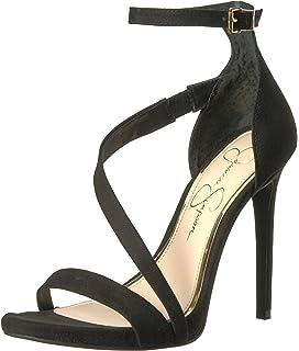 Jessica Simpson Plemy Satin Floral Print Ankle Strap Dress Sandals