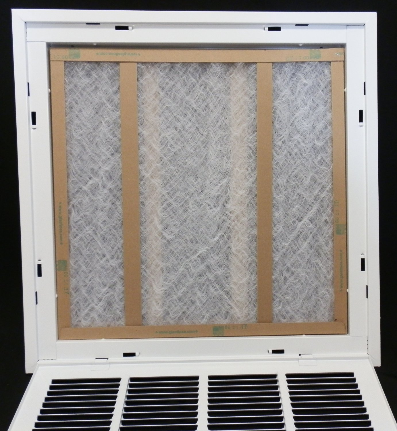30'' X 14 Steel Return Air Filter Grille for 1'' Filter - Removable Face/Door - HVAC DUCT COVER - Flat Stamped Face - White [Outer Dimensions: 32.5''w X 16.5''h] by HVAC Premium (Image #9)