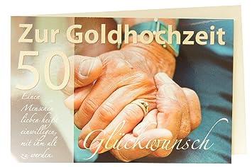 Glückwunschkarte 50 Zur Goldenen Hochzeit Amazonde