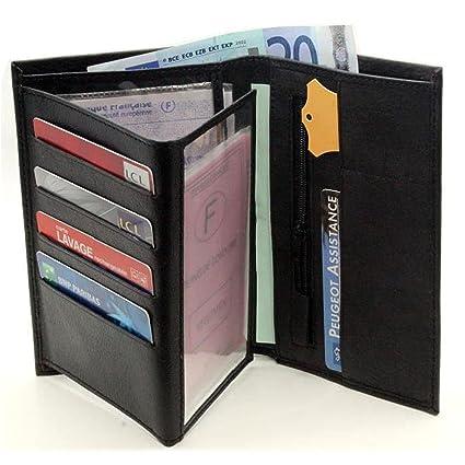Elegant - Cartera de hombre, incluye compartimentos para tarjetas y monedas
