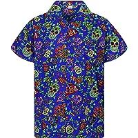 Original King Kameha | Funky Camisa Hawaiana Señores | XS-12XL |Manga Corta Bolsillo Delantero | impresión De Hawaii…