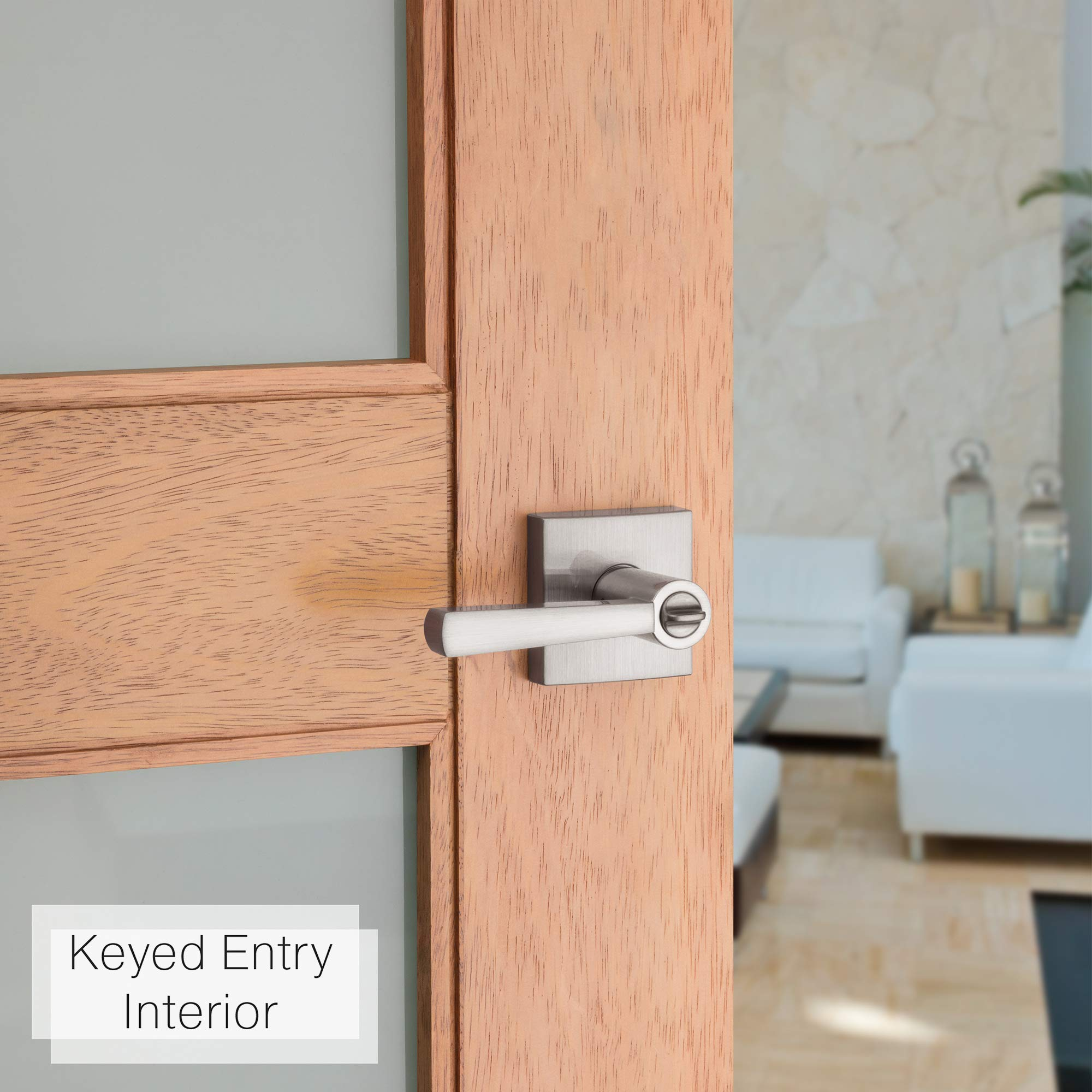 Baldwin Prestige Spyglass Entry Lever featuring SmartKey in Satin Nickel by Baldwin (Image #4)
