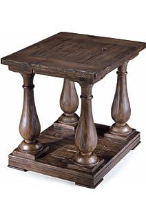 Magnussen T1695 03 Densbury Natural Pine Finish Wood Rectangular End Table