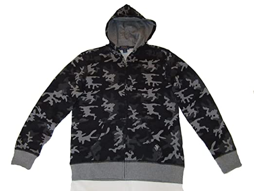 01b4c0f98 Amazon.com  RALPH LAUREN Polo Boys Full Zip Hoodie Sweatshirt Grey ...