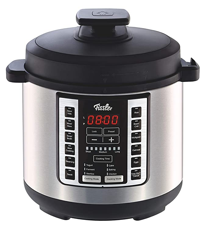 Fissler FISS-SMP01 Souspreme Multi Pot with 18 One-Touch Programs Including Pressure Cooker and Sous Vide, 6 quart, Stainless