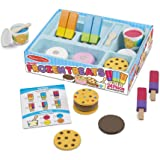 Melissa & Doug Wooden Frozen Treats Ice Cream Play Set (24 pcs) - Play Food and Accessories
