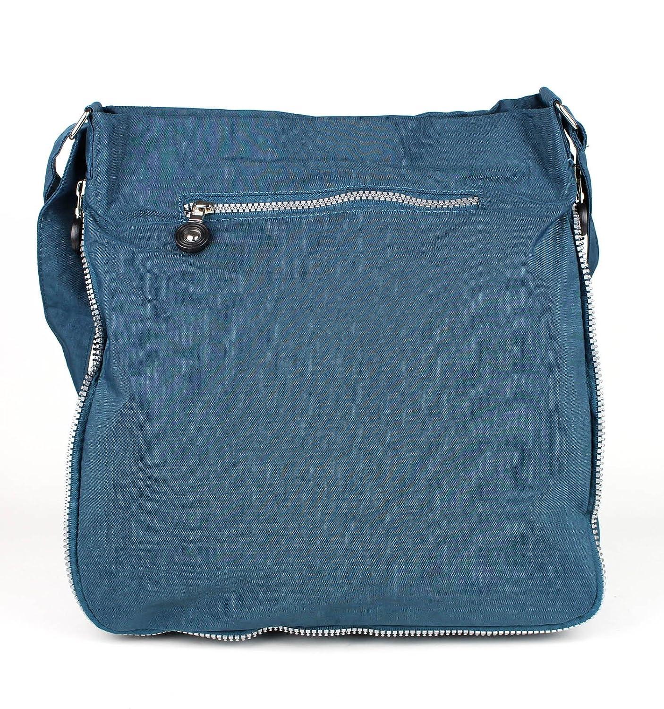 Bag Street Crinkle Nylon 2218, Sac à main pour femme Multicolore noir