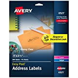Avery Glossy Crystal Clear Address Labels for Laser & Inkjet Printers, 1 x 2-5/8 Inch, 300 Labels