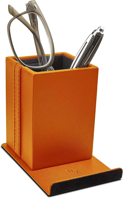 Eyeglass Glasses Holder Desktop Phone Stand Organizer   PU Leather, Soft Lining