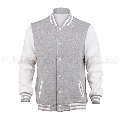 New Mens Varsity Letterman College- Baseball Jacket H-Grey-M ...