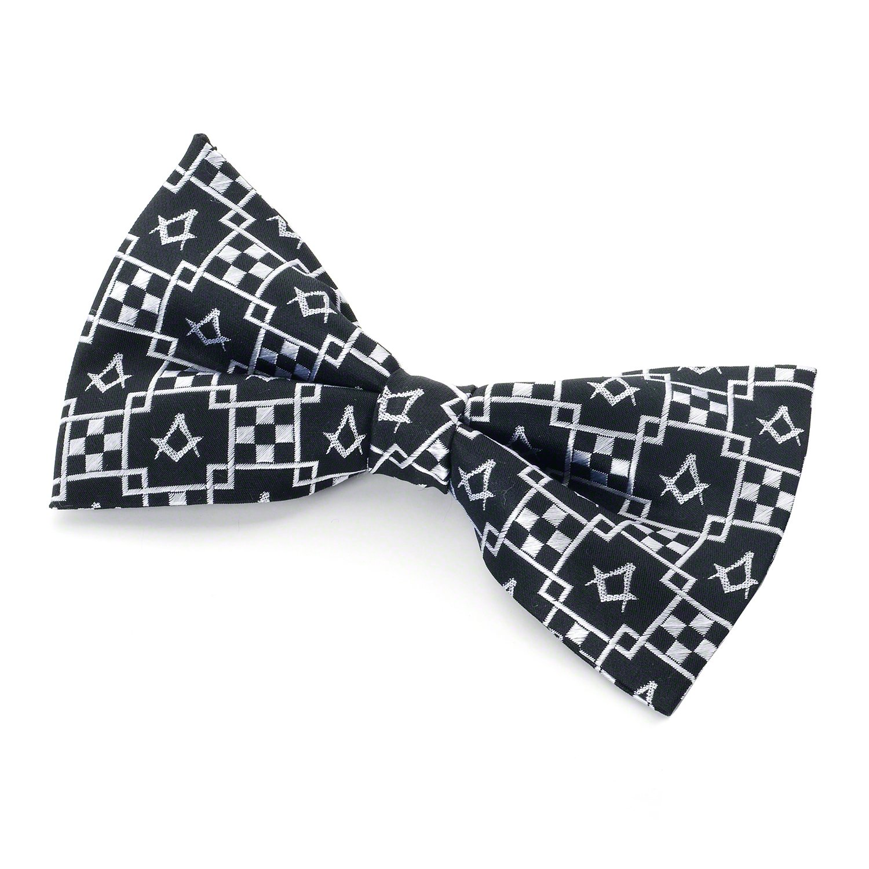 Masonic 100/% Silk Woven Pavement Bow Tie