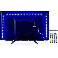 Led Strip Lights 6.56ft for 40-60in TV, PANGTON VILLA USB LED TV Backlight Kit with Remote - 16 Color Changing 5050 Leds Bias Lighting for HDTV