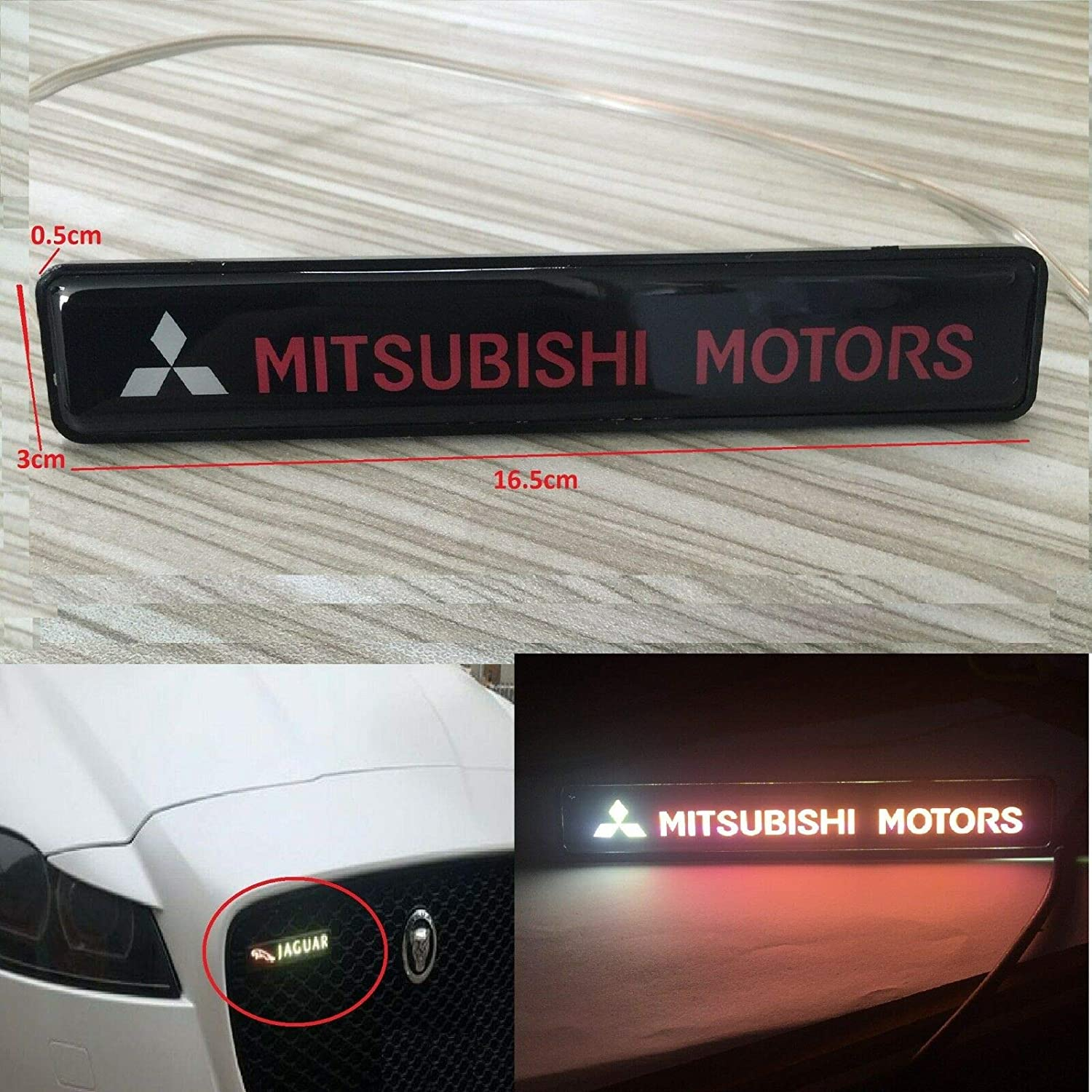 Mitsubishi Emblem Logo Decal Sticker RED 3/""