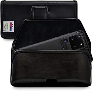 product image for Turtleback Holster Designed for Galaxy S20 S21 Ultra (2020) Belt Case Black Leather Pouch with Executive Belt Clip, Horizontal Made in USA