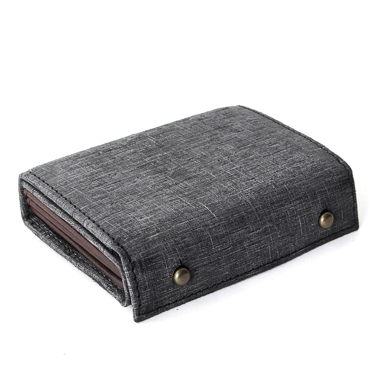 [エムピウ]m+ 折り財布 MF2p25 B07F4Y366G ブラック(クアドレッティ) ブラック(クアドレッティ) -