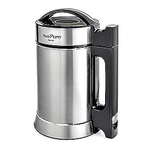 Idavee Brand - Presto Pure IAE15-1.9 Liter Automatic Hot Soy Milk (Almond, Rice, Quinoa Milk) Soup, Porridge & Cold Juice Maker - 2 Layer Stainless Steel - Recipe Booklet
