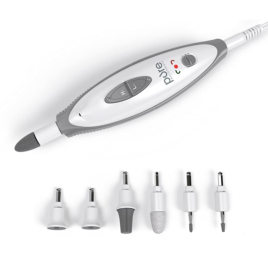 PureNails 7-piece Professional Manicure & Pedicure System - Powerful Electric Nail Drill for Salon-quality Grooming of Hands & Feet At Home