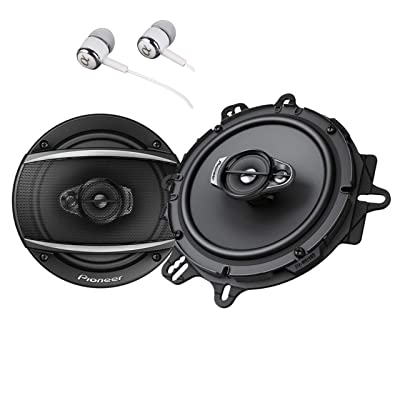 "Pioneer TS-A1670F 6.5"" 320 Watts Max 3-Way Car Speakers Pair Carbon and Mica Reinforced Injection Molded Polypropylene Bundled with Alphasonik Earbuds,Black: Car Electronics [5Bkhe0903698]"