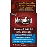 MegaRed 500mg Extra Strength Omega-3 Krill Oil, 45 softgels