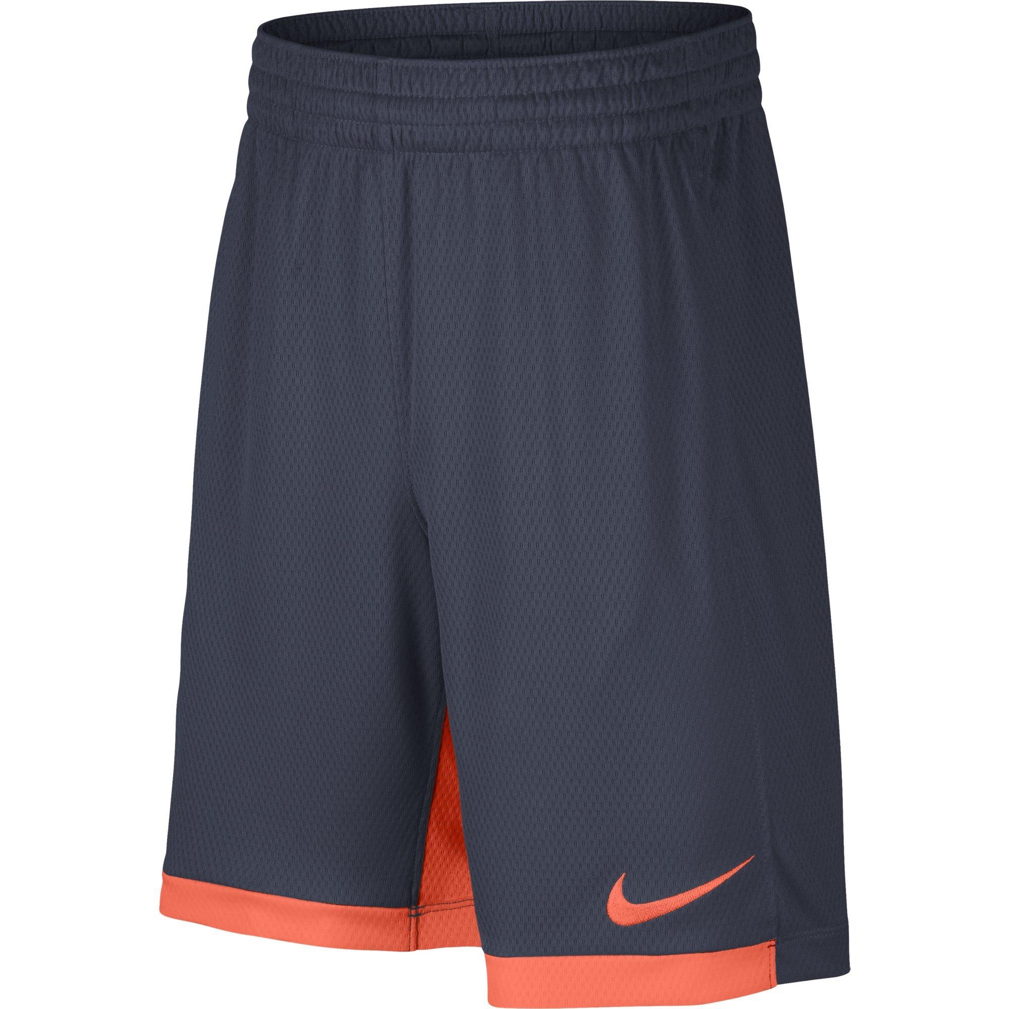 NIKE Boys' Dry Trophy Athletic Shorts, Thunder Blue/Hyper Crimson/Hyper Crimson, Medium