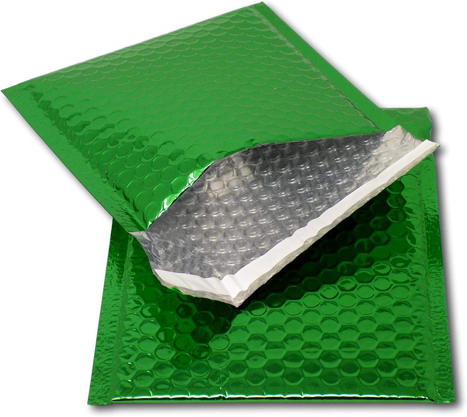 A4 // C4-324mm x 230mm Promotions or and Alternative to Gift wrap EPOSGEAR 25 Green Shiny Metallic Foil Bubble Padded Bag Mailing Envelopes Perfect for Marketing