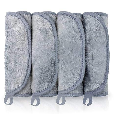 Toalla Desmaquillante, BUDDYGO Facial de Microfibra, Toallitas Desmaquillantes Microfibra Lavable y Reutilizable, Guante