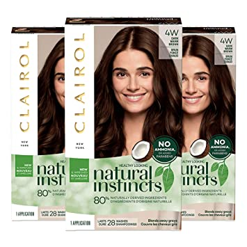 Amazon Com Clairol Natural Instincts Semi Permanent 4w Dark Warm Brown Roasted Chestnut Pack Of 3 Beauty,Colors That Go Well With Red And Black