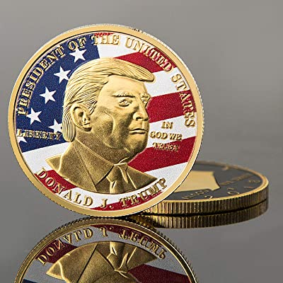 Flag Donald Trump Coins Gold Collection Gold 45th President 2020 Make Great America President Commemorative Golden Coin: Toys & Games