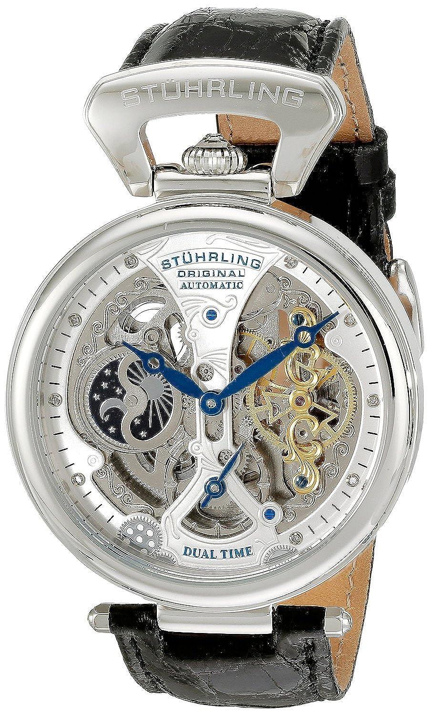 ストゥーリングオリジナル Stuhrling Original Men's 127A2.33152 Analog Display Automatic Self Wind Black Watch [並行輸入品] B01KMFNJXM