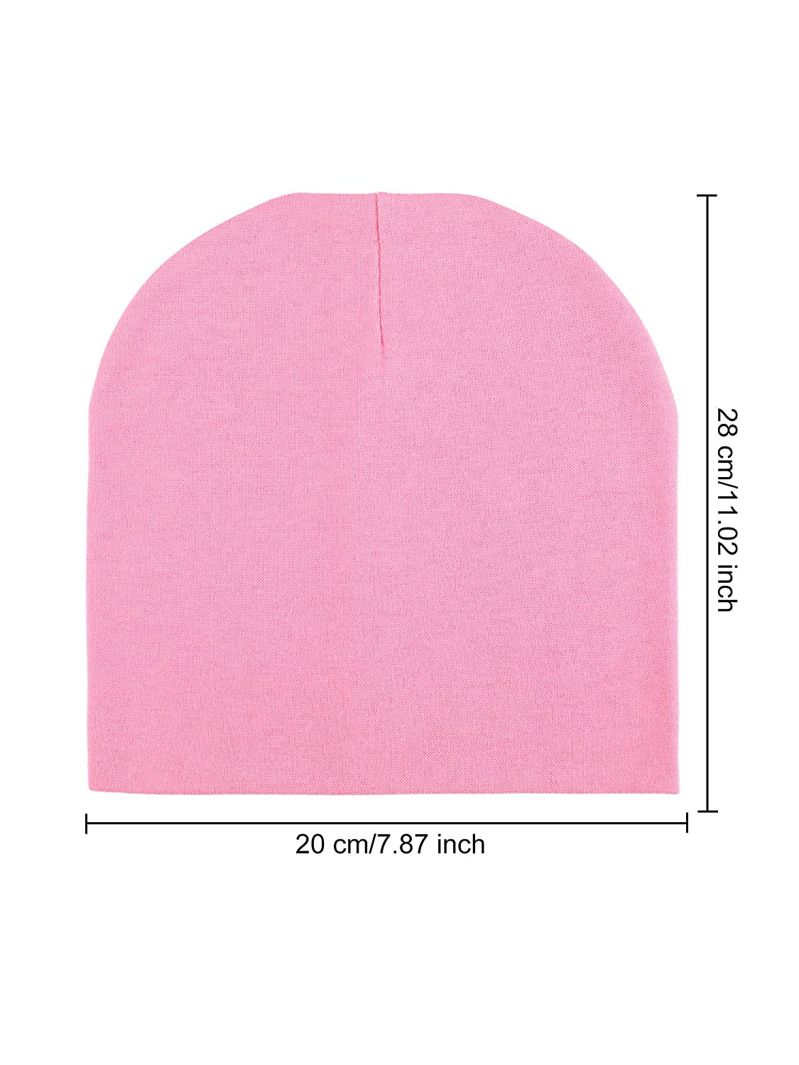 Color 1 12 Pieces Baby Knit Hat Elastic Cotton Beanie Cap for Kid Outdoor Activity
