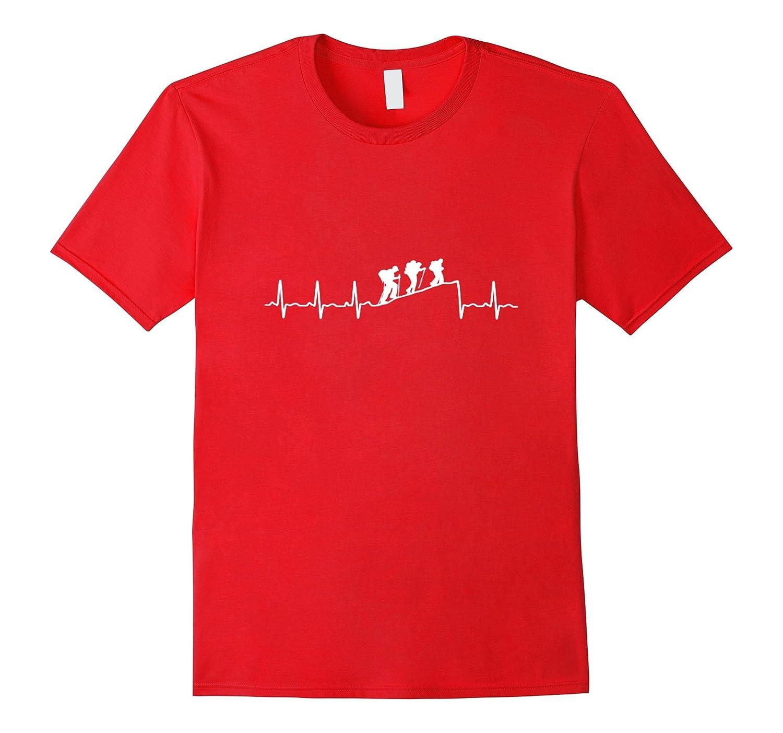 Climbing Heartbeat T-Shirt - Mountain in My Heart T-Shirt-RT