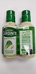 Cardini Original Caesar Dressing, Bottles, 20 oz, 2 pk