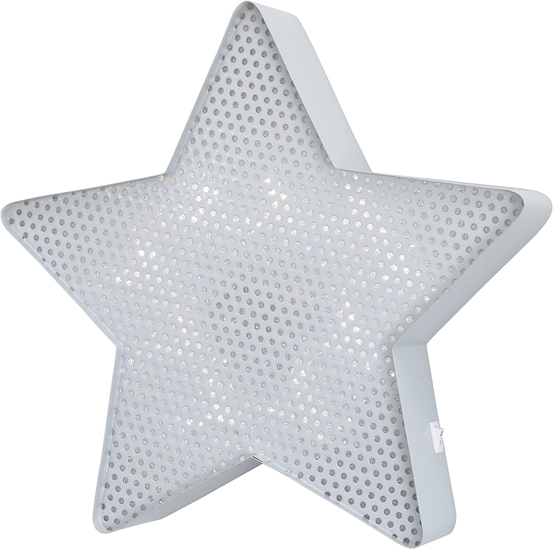 Star NoJo Light Up Mesh Room Decor Gray