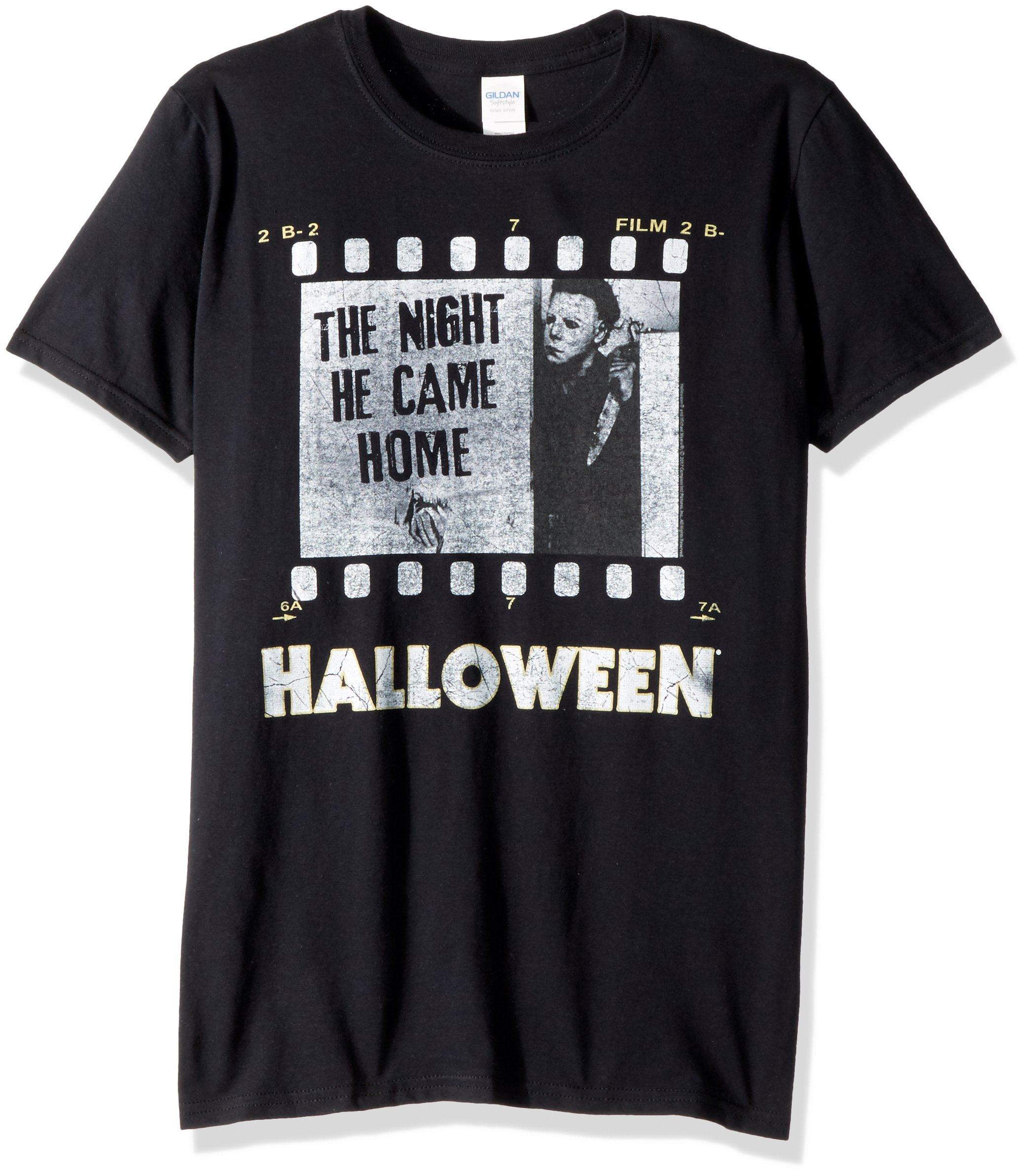 Halloween The Movie Film Strip Adult Short Sleeve Tshirt