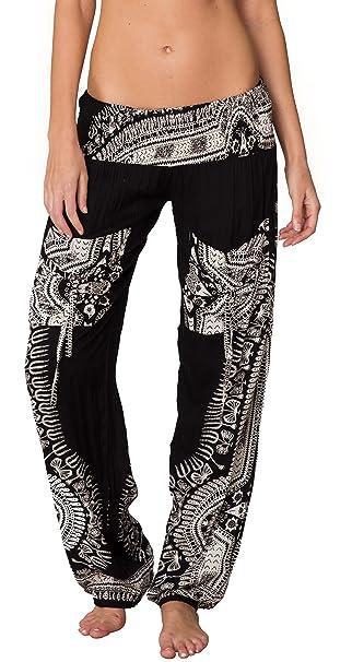 Amazon.com: Ingear - Pantalones de harén bohemios para mujer ...