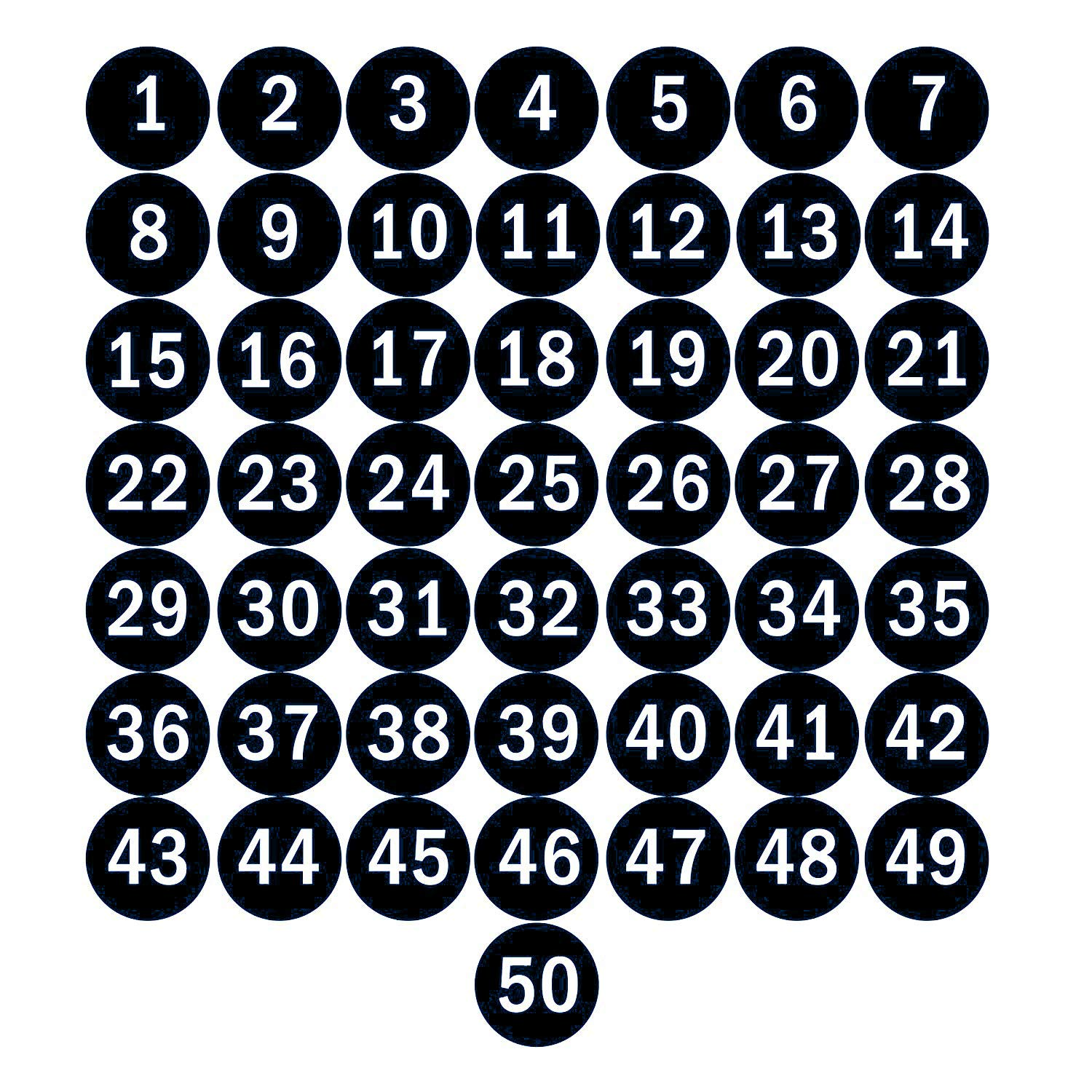 Numbered Round Stickers