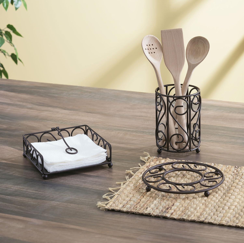 Metal Home Basics Scroll Collection Trivet