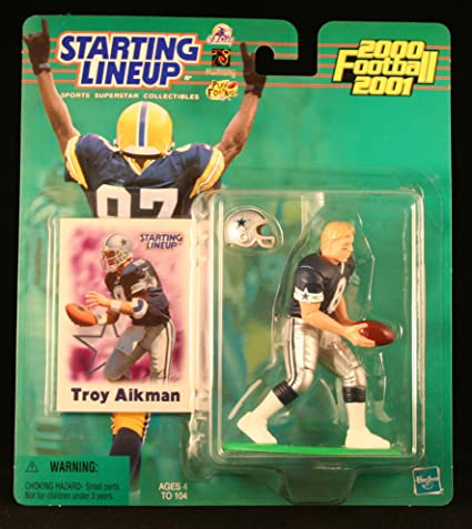 TROY AIKMAN DALLAS COWBOYS 1997 NFL Starting Lineup Action Figure /& Exclusive NFL Collector Trading Card