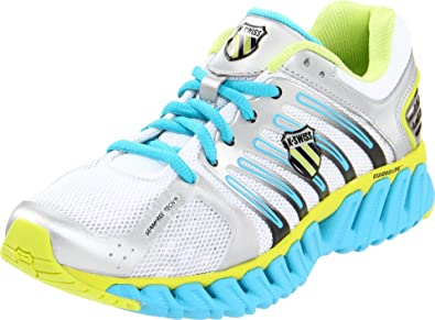 K-Swiss Women's Blade Max Stable Track Shoe,Silver/Optic Yellow/Fiji