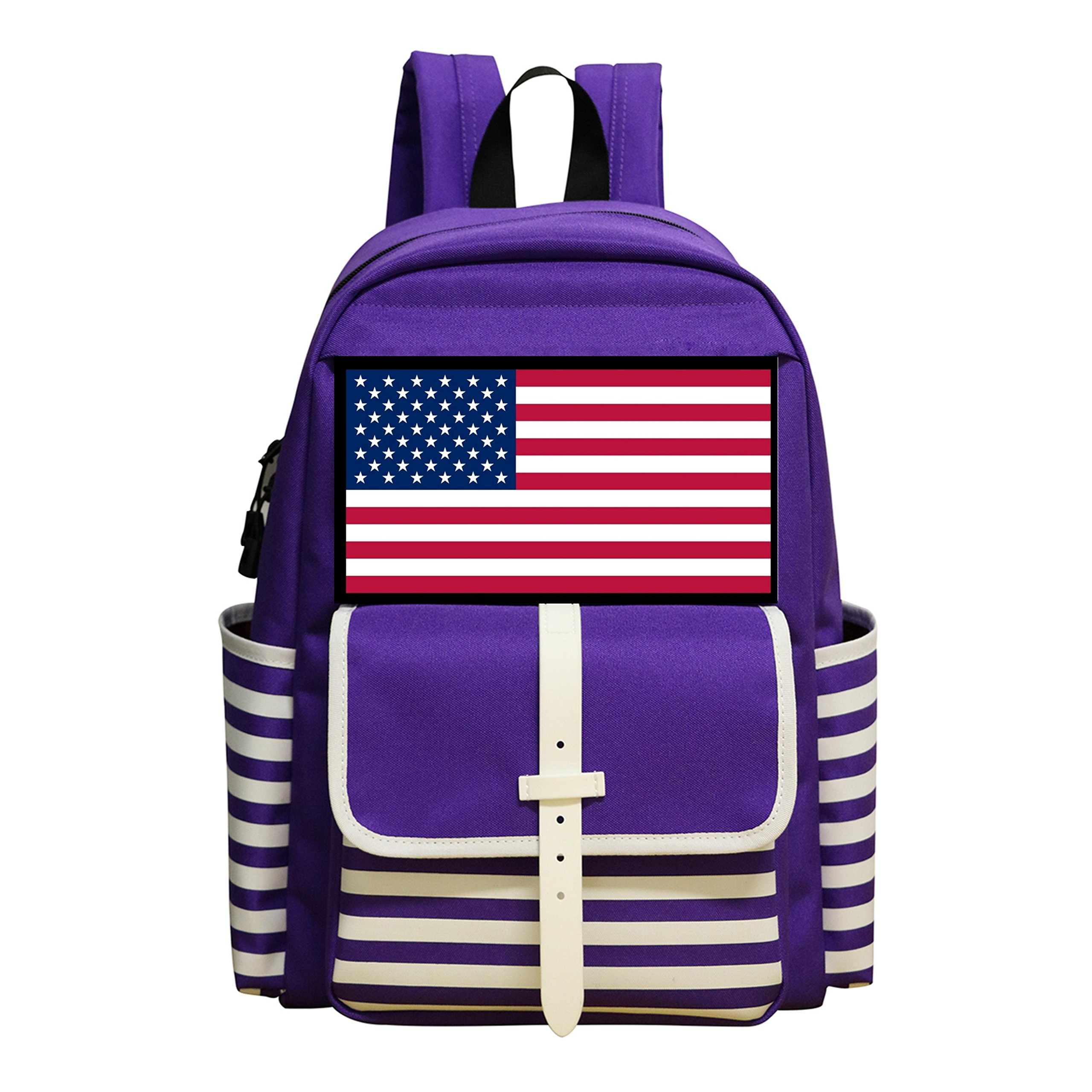Fashion Student Backpack USA Wrestling Boys&Girls School Bag by BGE4 FDSAGRGT