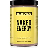 Fruit Punch Naked Energy – Fruit Punch Flavored All Natural Pre Workout Supplement for Men and Women, Vegan Friendly, No…
