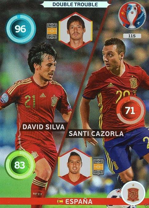 Panini Adrenalyn XL – Uefa Euro 2016 Espana Double Trouble – Silva y Cazorla: Amazon.es: Deportes y aire libre