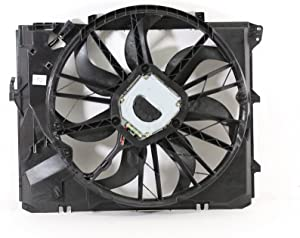 Dual Radiator and Condenser Fan Assembly - Cooling Direct For/Fit BM3115109 06-13 BMW 3-Series Sedan/Wagon/Coupe/Convertible 09-16 Z4 08-13 1-Series Manual Transmission WITHOUT Turbo w/o SULEV