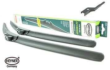 Heyner HYBRID - Escobillas limpiaparabrisas de 61 cm [Skokodiaq] HH2421ST: Amazon.es: Coche y moto