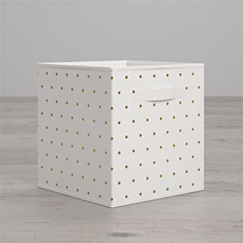 Amazoncom Little Seeds Polka Dot Print Bin Gold Baby - The-beautiful-dot-and-cube-collections