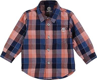 Timberland Camisa de algodón a Cuadros Infantil 4AÑOS: Amazon ...