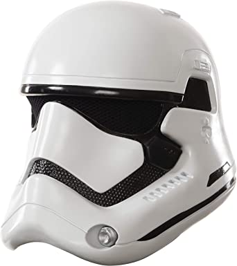 Star Wars Boys Stormtrooper Half Helmet White One-Size The Force Awakens