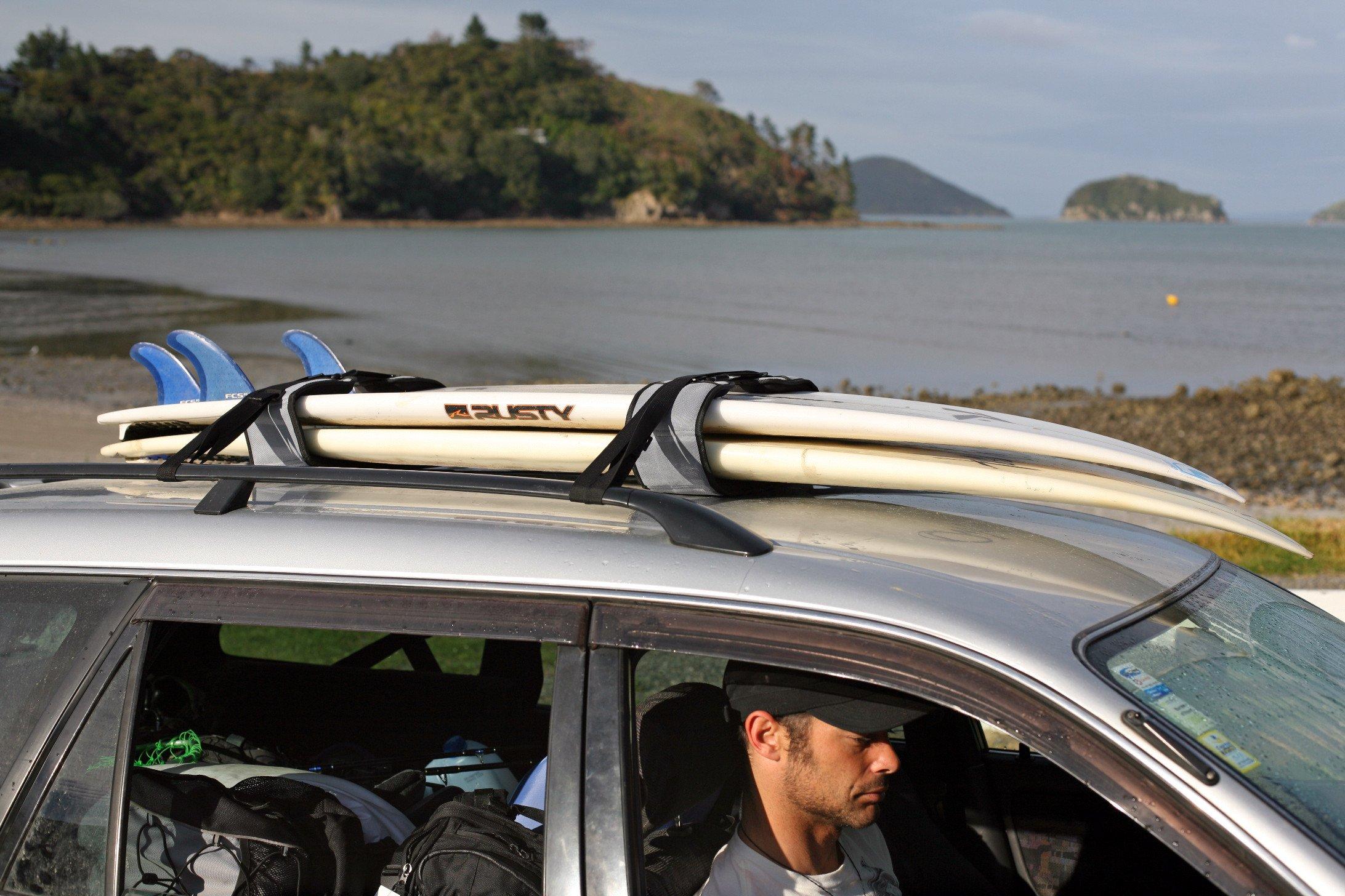 Surfboard Soft Rack LOCKDOWN Premium Surfboard Car Racks by Curve (set of 2) by Curve (Image #5)