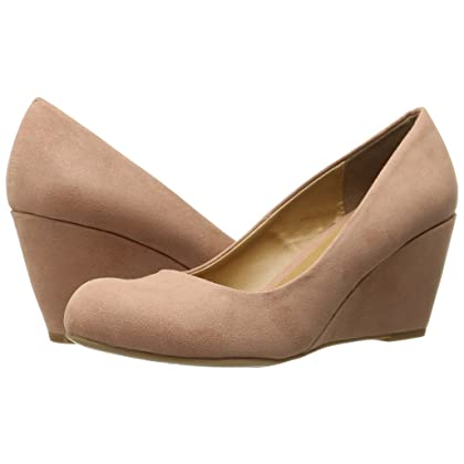 912abf928e ... CL by Chinese Laundry Women's Nima Wedge Pump, Dusty Rose Super Suede,  ...