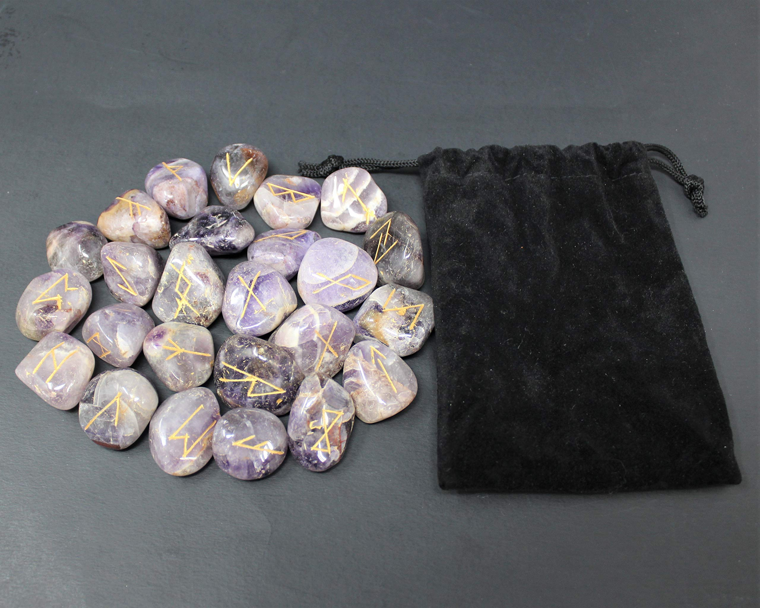 Amethyst Set of Rune Stones